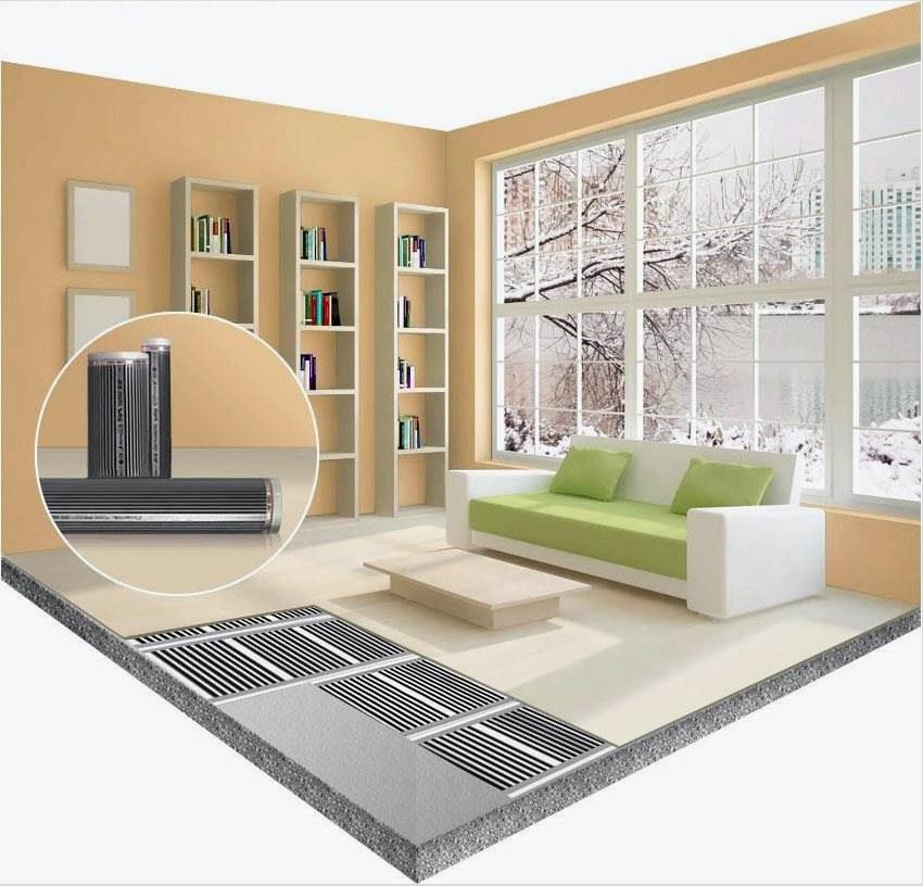Linóleum padló a nappaliban